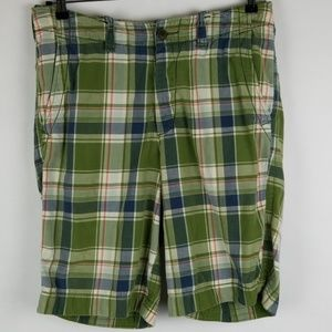 Abercrombie Fitch New York Plaid Button Shorts 31